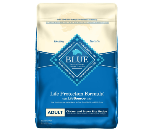 Blue Buffalo Life Protection Formula Natural Adult Dry Dog Food, Chicken and Brown Rice 30-lb